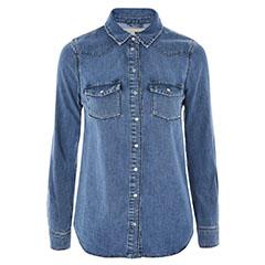 Topshop-Fitted-Denim-Shirt