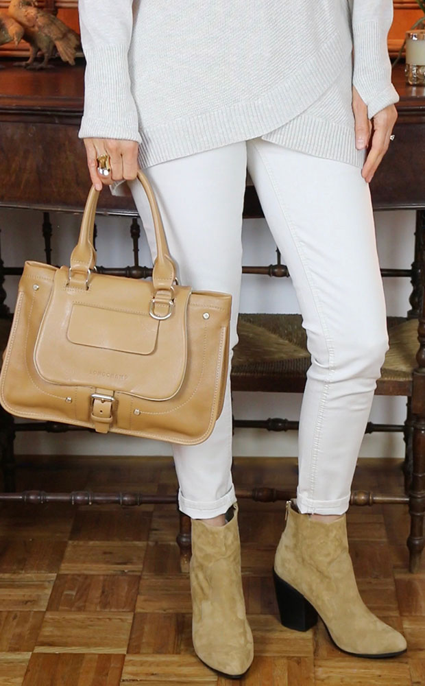 Longchamp-Natural-Balzane-Camel-Booties-OOTD-Classic-Fashion-Style-Over-40-50