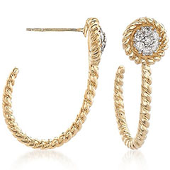 14K-Gold-.25-Carat-Diamond-J-Hoop-Earrings