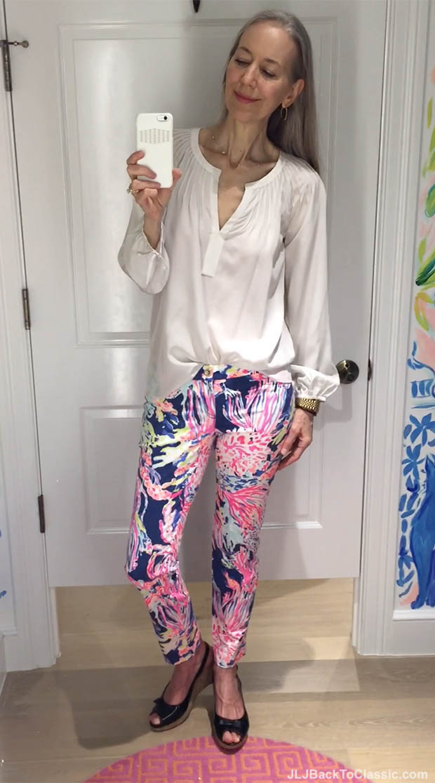 Classic-Fashion-Over-40-Lilly-Pulitzer-Nadia-Silk-Top-Kelly-Skinny-Pant