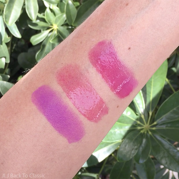 Classic-Beauty-100-Percent-Pure-Tempest-Lipstick-Ruby-Gemmed-Lip-Gloss-Combined-Swatch