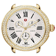 Michele-Serein-Diamond-Gold-Plated-Watch