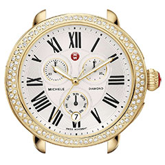 Michele-Serein-Gold-Plated-Diamond-Watch