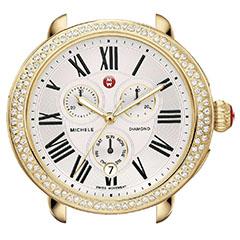 Michele-Serein-Gold-Plated-Diamond-Watch