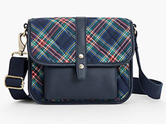 Talbots-Indigo-Plaid-Quilted-Nylon-Crossbody-Bag