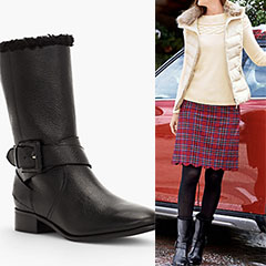 Talbots-Pebbled-Leather-Buckle-Boots