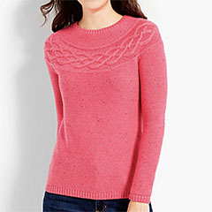 Talbots-Tweed-Cable-Yoke-Sweater