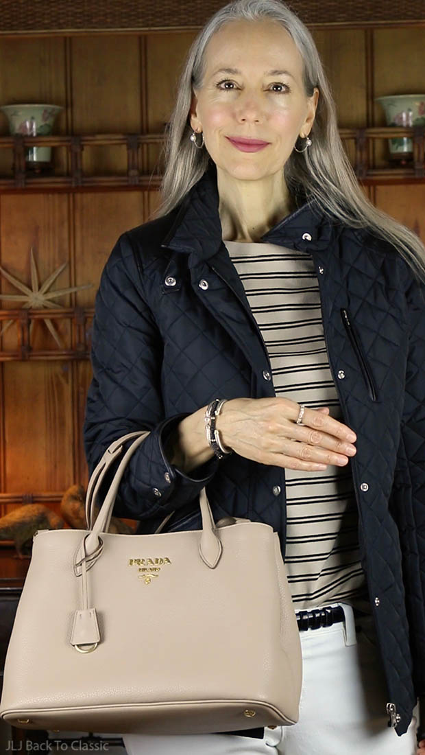 classic-fashion-over-40-50-prada-vitello-daino-tote-Janis-Lyn-Johnson