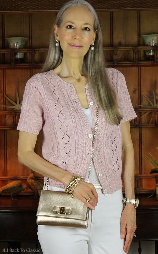 classic-fashion-ralph-lauren-blush-sweater-talbots-white-jeggings-salvatore-ferragamo-vara