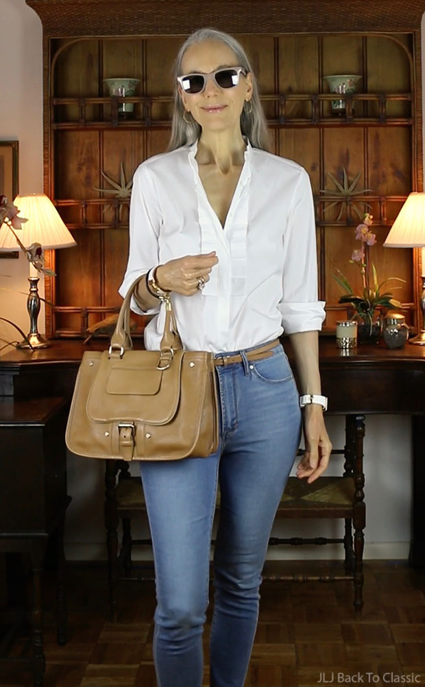 Ann-Taylor-Pleated-Shirt-Sunglasses-articles-society-skinny-jeans-fashion-over-40