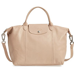 Longchamp Le Pliage Cuir Leather Handbag