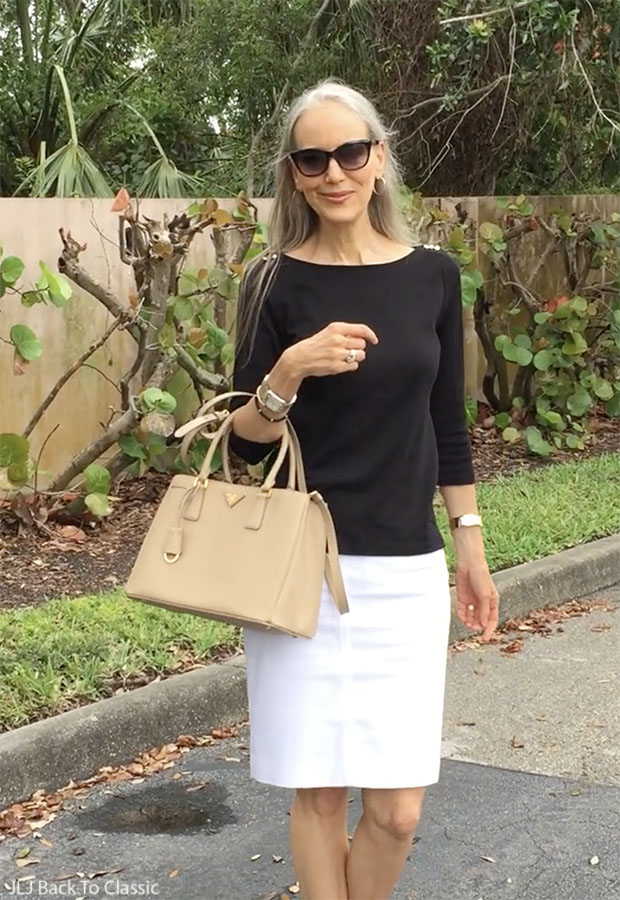 black-tee-white-pencil-skirt-janis-lyn-johnson-classic-style-over-40