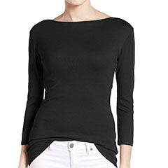 caslon-black-three-quarter-sleeve-tee