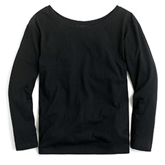 j-crew-black-pima-cotton-three-quarter-sleeve-tee