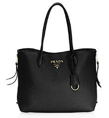 prada-daino-leather-tote-black