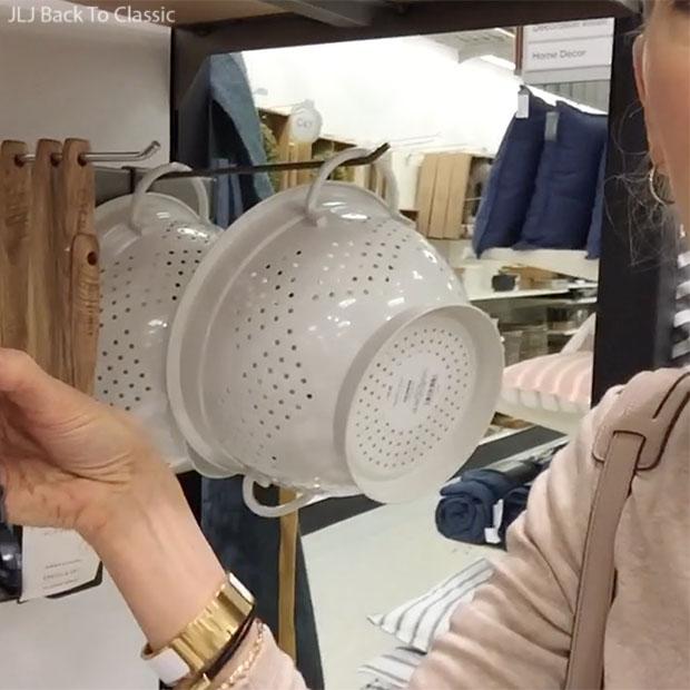 Vlog-Target-white-enamel-strainer-Blogger-Janis-Lyn-Johnson