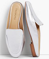 talbots-frannie-silver-metallic-leather-mules