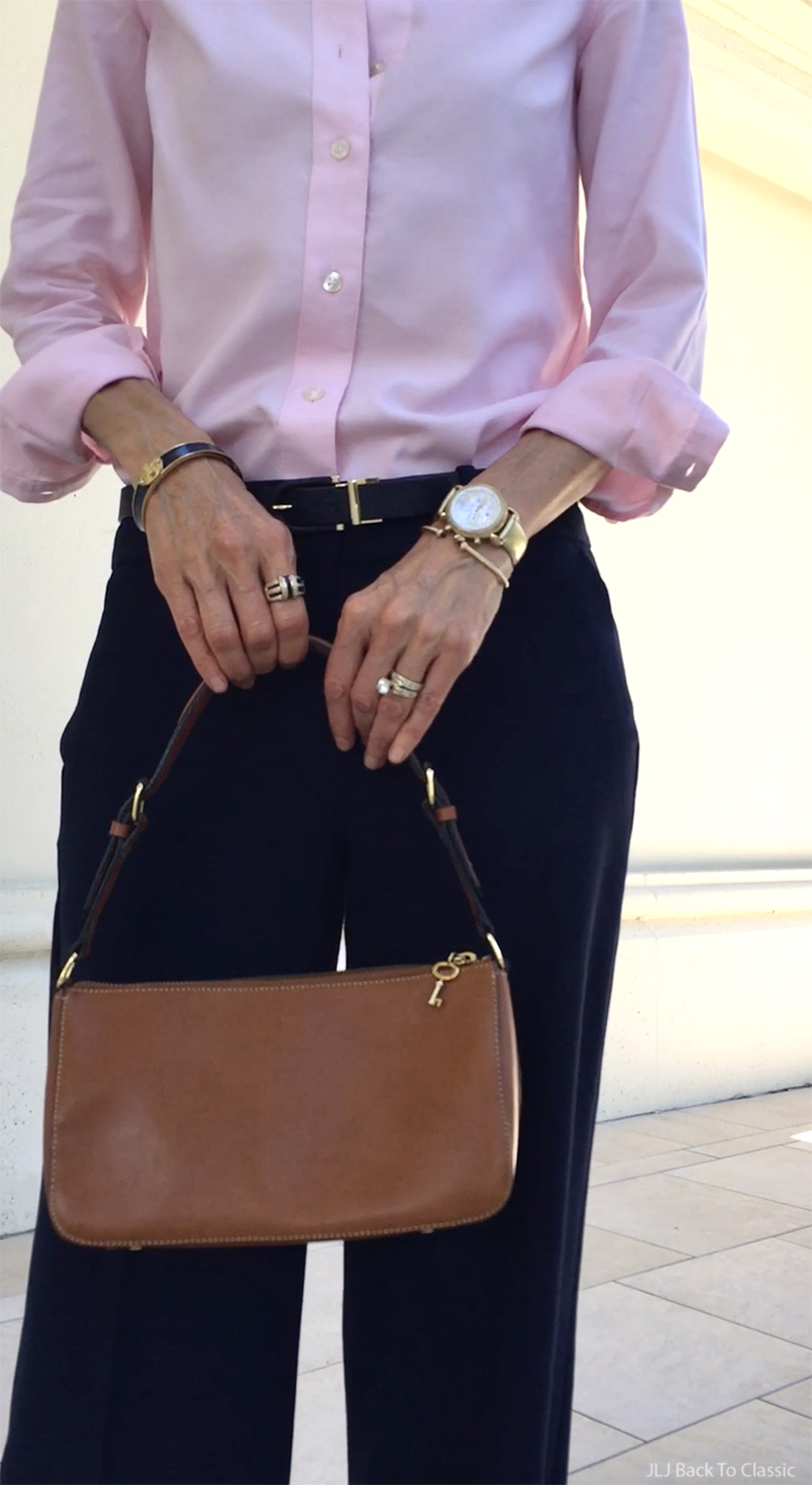 ageless-style-michele-gold-watch-david-yurman-gold-cable-bracelet-cognac-bag