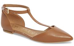 calvin-klein-ghita-cognac-leather-t-strap-flat
