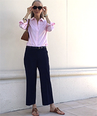 classic-fashion-over-40-cropped-wide-leg-pants-button-up-shirt