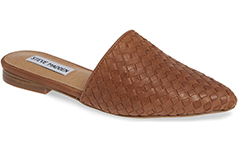steve-madden-cognac-leather-woven-mule