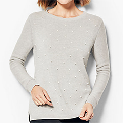 talbots-grey-cotton-and-tencel-pearl-embellished-sweater