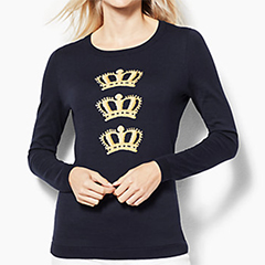 talbots-triple-crown-sweater-indigo-blue-and-gold-cotton-and-rayon
