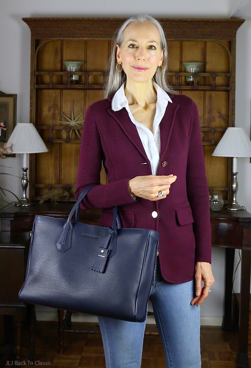 classic-fashion-ralph-lauren-blazer-brooks-longchamp-navy-tote-janis-lyn-johnson