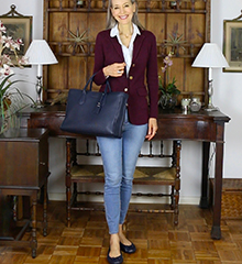 classic-fashion-over-40-ralph-lauren-burgundy-blazer-janis-lyn-johnson-IGshop