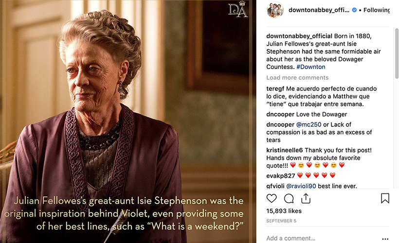 downton-abbey-instagram-maggie-smith-as-violet-coming-to-theaters