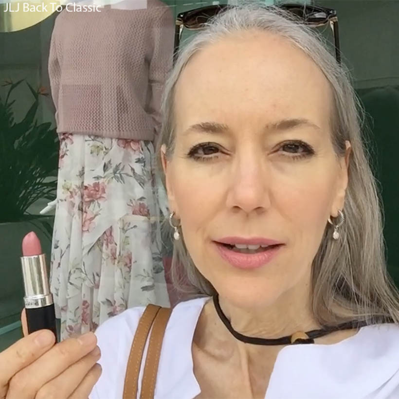 Vlog-Classic-Green-Beauty-Over-50-Gabriel-Eve-Lipstick-Swatch-Peachy-Pink