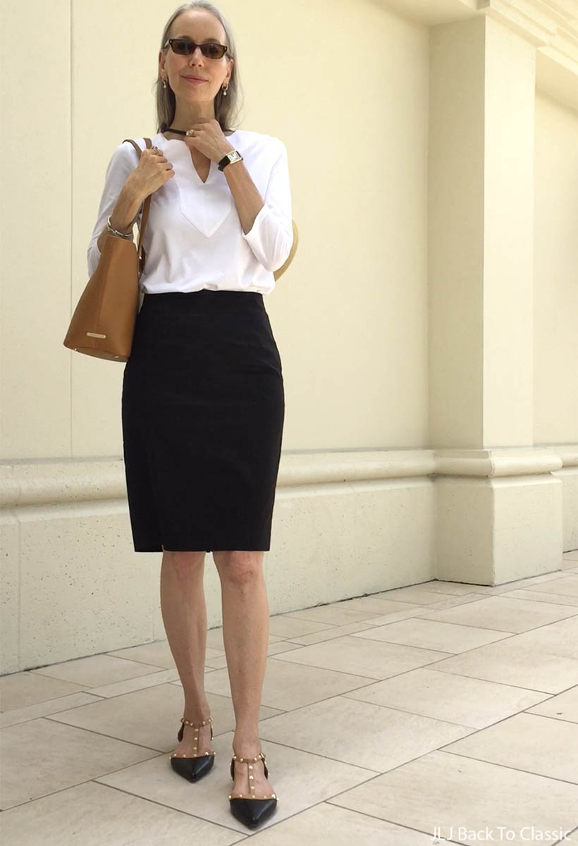 713e0e7521 Vlog: White Shirt, Black Pencil Skirt, Wide-Brim Hat OOTD; Lunch ...