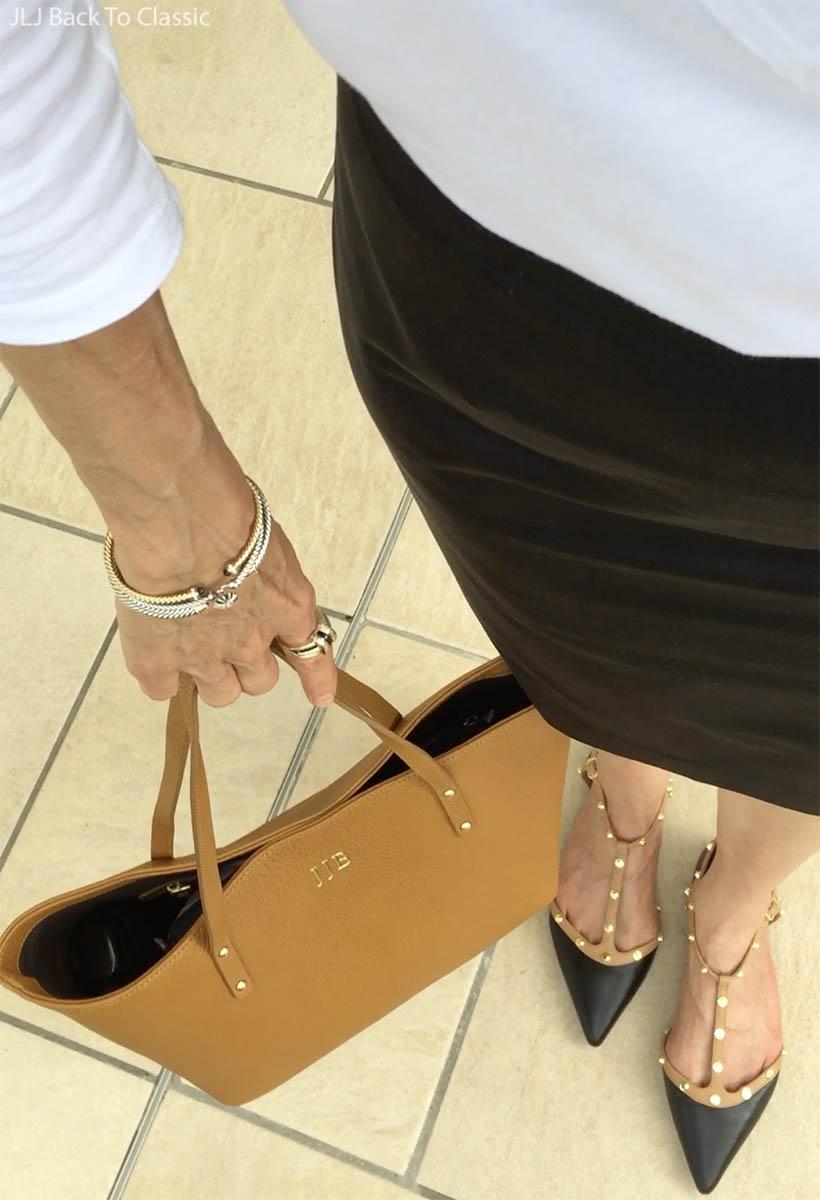 Classic-Style-David-Yurman-Bracelets-Halogen-Spectator-T-Strap-Flats-GigiNewYork-Tote