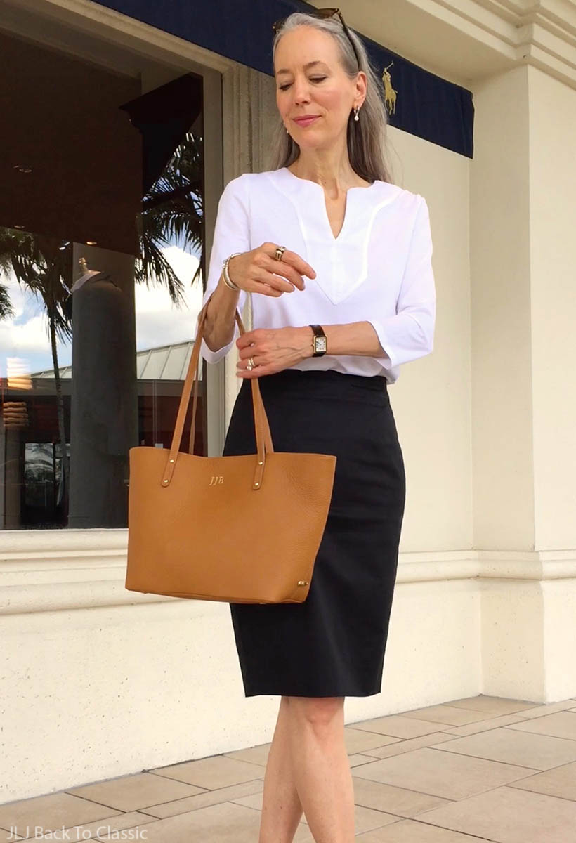 Vlog-Ralph-Lauren-Tee-Ann-Taylor-Black-Pencil-Skirt-Waterside-Shops-Naples