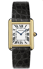 cartier-small-18k-yellow-gold-tank-watch-black alligator-strap
