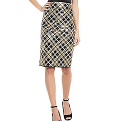 eliza-j-sequin-plaid-pencil-skirt