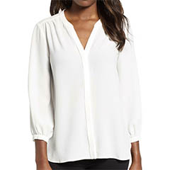 gibson-white-back-pleat-blouse