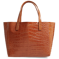kurt-geiger-croc-embossed-leather-tote-tan