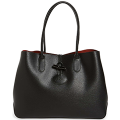 longchamp-roseau-black-leather-shoulder-tote