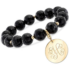 black-onyx-and-14k-gold-bead-bracelet-with-removable-personalized-charm