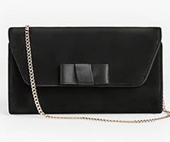 talbots-black-suede-bow-clutch-shoulder-bag