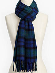 talbots black-watch-plaid-cashmere-scarf