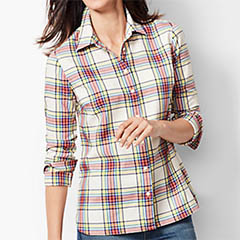 talbots-lumiere-plaid-classic-cotton-shirt