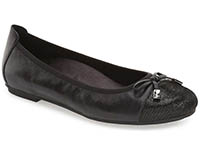 vionic-snakeskin-embossed-leather-ballet-flat-black