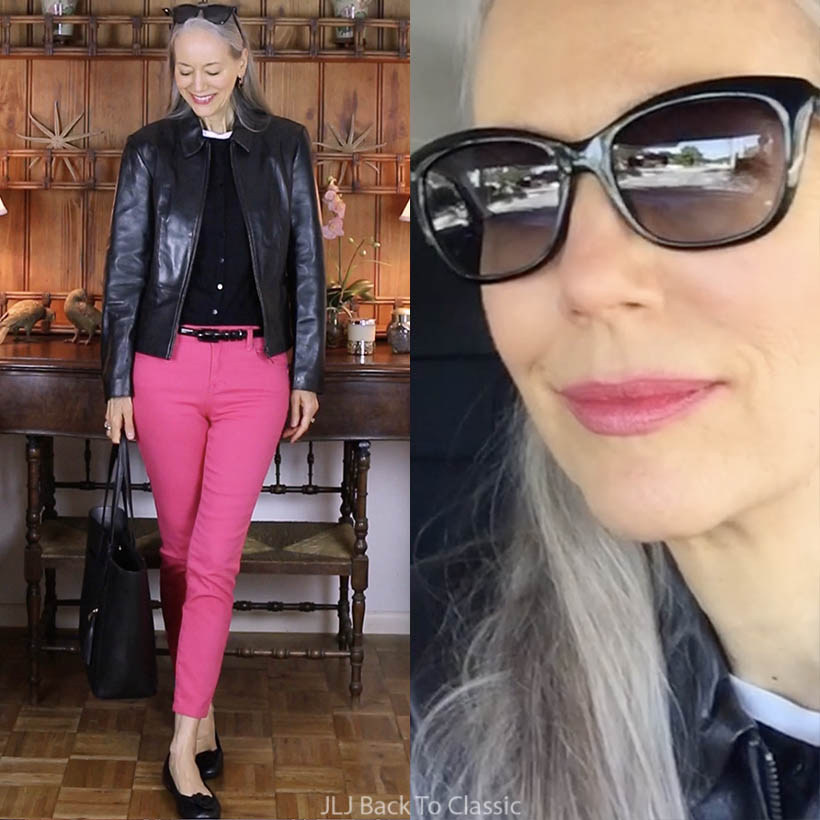 vlog-black-leather-jacket-pink-skinny-jeans-waterside-shops-fashion-show-naples-blog