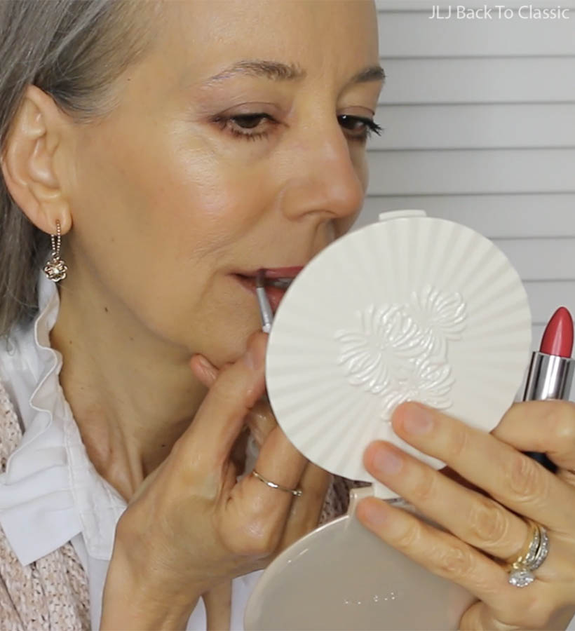 Green-Beauty-Over-50-Applying-Gabriel-Tea-Rose-Lipstick-With-Lip-Brush