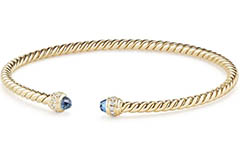 david-yurman-18k-gold-barrels-bracelet-with-diamonds-and-blue-topaz