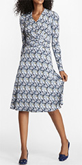 brooks-brothers-navy-and-white-multi-bamboo-print-faux-wrap-dress