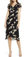 bardot-floral-print-faux-wrap-chiffon-dress