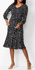 talbots-black-floral-fit-and-flare-dress